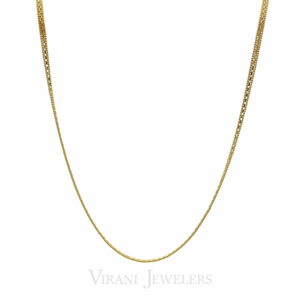 22K Yellow Gold Box Chain Necklace W/ Beaded Trim Accents for Men | 22K Yellow Gold Box Chain Necklace W/ Beaded Trim Accents for Men. Gold chain linked with box des...