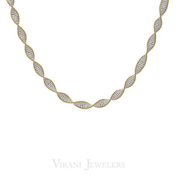 22K Multitone Gold Twisted Chain Necklace | 22K Multitone Gold Twisted Chain Necklace for Women. Necklace features a twisted design set with ...