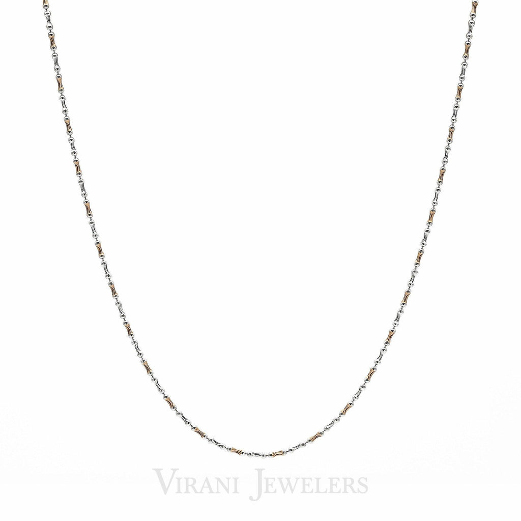 22k Yellow & White Gold Bone Link Gold Chain Necklace | 22k Yellow & White Gold Bone Link Gold Chain Necklace for women. Chain linked by handcraftd s...