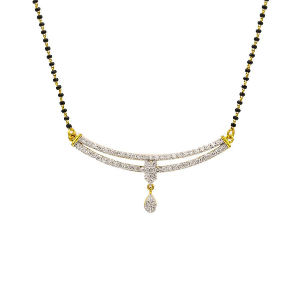 18K Yellow Gold Diamond Mangalsutra Necklace W/ 0.86ct VS-SI Diamonds |  18K Yellow Gold Diamond Mangalsutra Necklace W/ 0.86ct VS-SI Diamonds for women. This beautiful ...