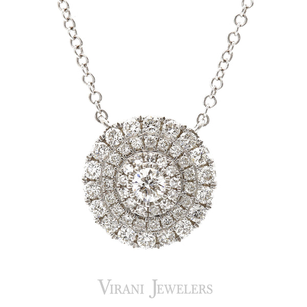 0.45CT DIamond Infinite Circle Pendant Necklace Set in 14K White Gold | 0.45CT DIamond Infinite Circle Pendant Necklace Set in 14K White Gold for Women. Chain pendant fe...