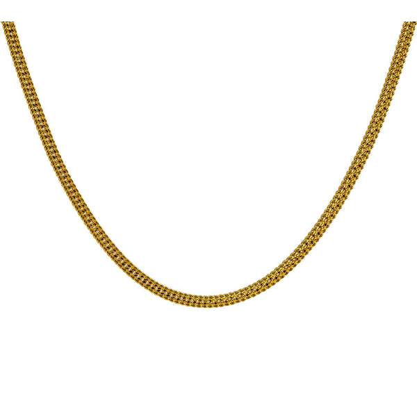 22K Yellow Gold Men's Chain W/ Rounded Curb Link | Add a touch of radiant 22K gold to any outfit with this curb link men's chain from Virani Jeweler...
