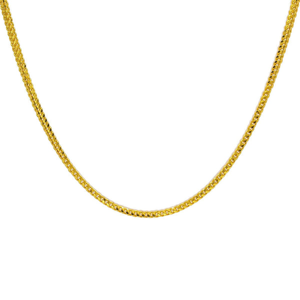 22K Yellow Gold Men's Chain W/ Double Curb Link, 22"