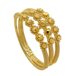 22K Yellow Gold Connected Stackable Gold Ring