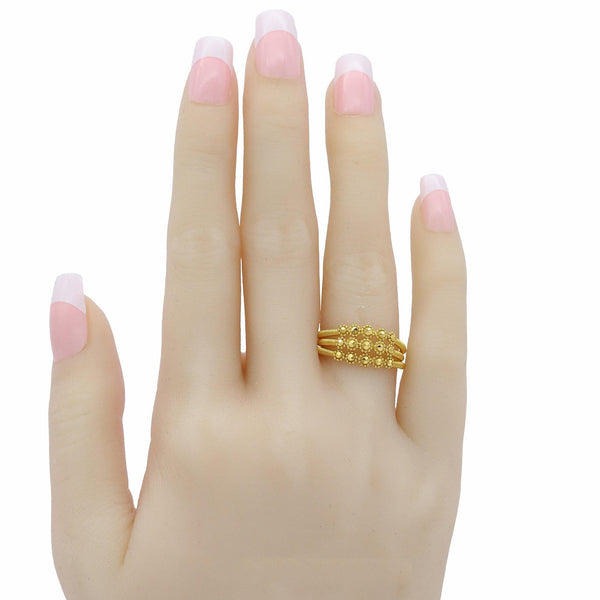 22K Yellow Gold Connected Stackable Gold Ring | 22K Yellow Gold Connected Stackable Gold Ring for women is the perfect on trend piece. Provides a...