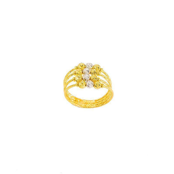 22K Multitone Gold Ring |