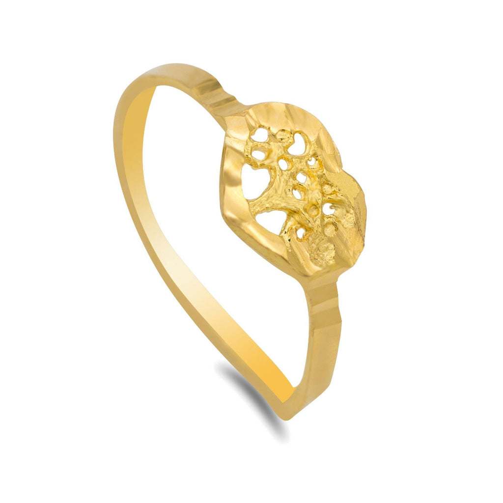 22K Yellow Gold Heart Tree Baby Ring | 22K Yellow Gold Heart Tree Baby Ring. Solid gold baby ring for daily and occasional wear. Contact...