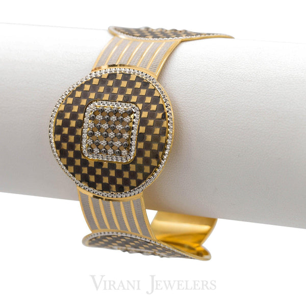 22k Gold CZ Bangle |