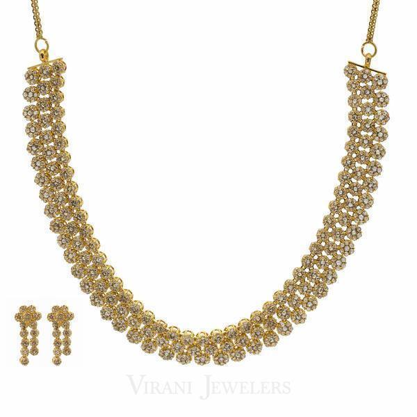diamond uncut piece mirari necklace