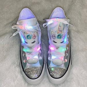 Unicorn Girls Bling Converse Sneakers