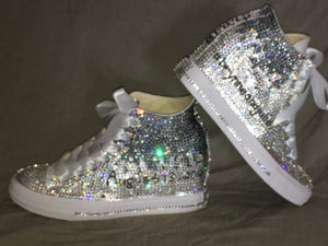 Women's Bling Converse Sneakers Embellished & Ombre Designed
