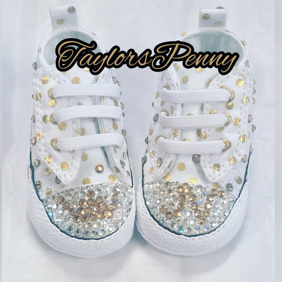 a71178a1523d CUSTOM BLING BABY SHOES - BLING CONVERSE
