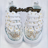 Baby First Star Bling Converse Polka Dot