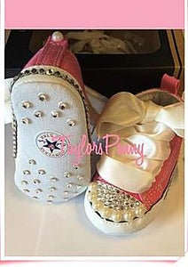 Baby First Star Bling Converse with Pearls