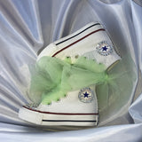 Girl's Bling Converse w/ Tulle