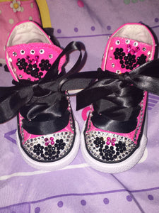 Girl's Bling Converse Minnie Mouse