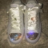 Womens Bling Converse Bridal Personalized
