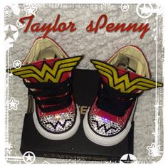 Girl's BLING CONVERSE Wonder Woman