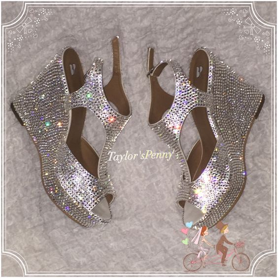 Bridal Embellished Swarovski SHoes