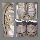 Women's Bling Converse with Scattered Stones