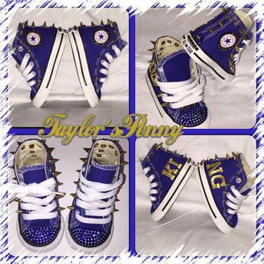 Boys Converse Custom for (KING) Royalty