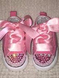 Bling Baby Sneakers First Star Converse (PInk & Lt. Pink)