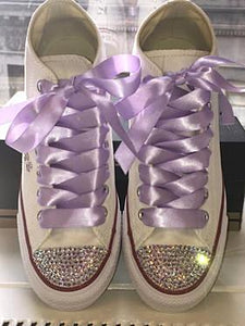 Women's Converse Personalized w/ AB Crystals
