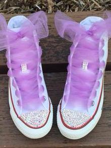 Womens Hi Top w/ Ab Bling and Tulle