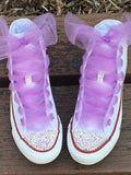 Women's Hi Top Converse with AB Bling