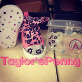Baby Bling Sneakers First Star Converse Leopard (Animal Print)