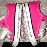 Girls Bling Sparkly Sneakers Custom