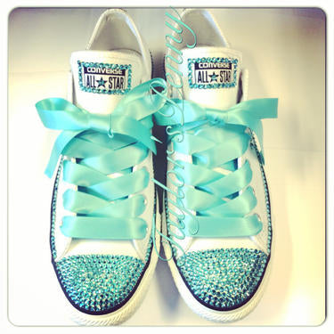 Womens Bling Converse Tiffany & Co. (Personalized)