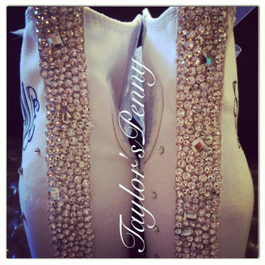 Women's Bling Converse (Brides Choice Scattered Stones)