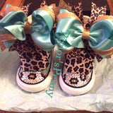 Girl's Bling Converse Leopard Designed