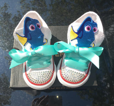 Girl's Bling Converse (Inspired by Finding Dory)