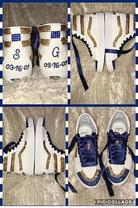 V8 Ski-Hi  Bling Vans Sneakers Personalized with Bling