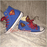 Custom Superman Sneakers Clark Kent