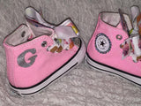 Girl's Bling Converse (Cupcake) Sparkly Sneakers, Custom Shoes/ Crystal Sneakers, Bling Converse