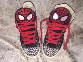 Boys Spider Man Sneakers w/ Rivets