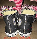Girl's Bling Sneakers (Alice in Wonderland)/ Sparkly Sneakers/ Crystal Shoes/ Girls Converse/