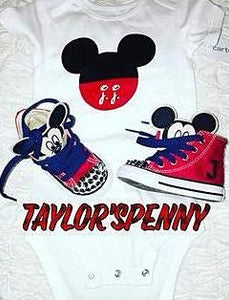 Boys Mickey Mouse Sneakers & Onesie