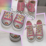 Girls Bling Converse inspired by Care Bears