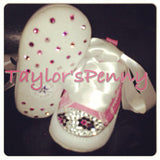 Baby First Star Bling Converse w/ Leopard Print (Pink Animal Print)