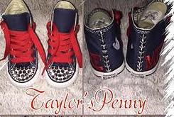 79fc8c464308 Boys Custom Converse w  Spikes   Name – Taylors-Penny