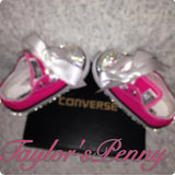 Girls Converse Bling Crystallized Sparkly Custom Sneakers (SALE)