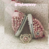 Baby Bling Converse w/ Bling Binky (Pearls & Bling)