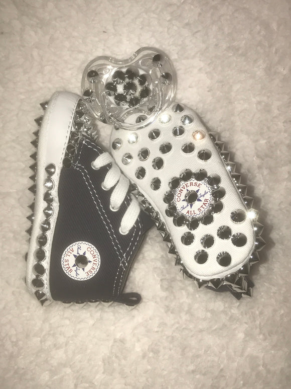 Baby Spiked Converse (Navy)