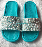 Bridal Bling Slides w/ Pearls