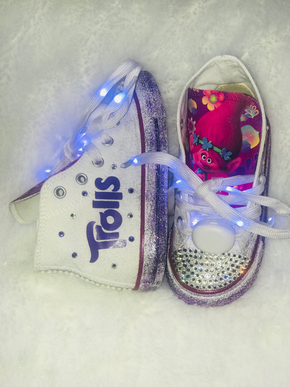 Bling Converse for Girls/ Poppy Troll