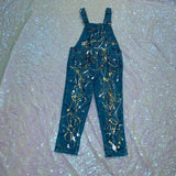 Custom Painted Overalls (Yellow & Gold)